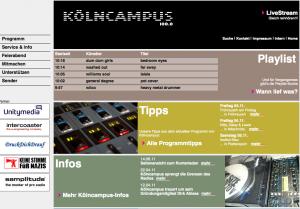 Kölncampus das kölner hochschulradio auf 100.0 mhz und auf 90.2 mhz im unitymedia-Kabel: hier war ich als redakteur und moderator tätig