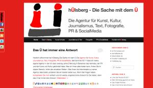 hülsberg - die sache mit dem ü-die agentur für kunst, kultur, journalismus, text, fotografie, pr & socialmedia